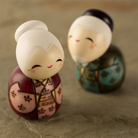 Happy Life Together Kokeshi Doll Set
