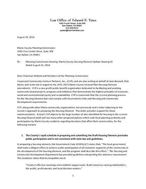 Support Letter For Department Of Housing Save Marinwood Lucas Valley Our Community Our Future Letters To The Marin County Planning
