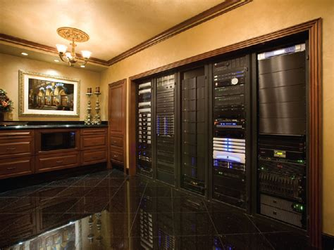 palatial home theater runs on 5 racks ce pro