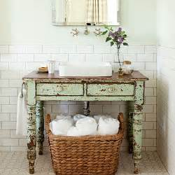 Bathroom Vanity Table With Sink To Da Loos Wood Tables As Bathroom Vanities