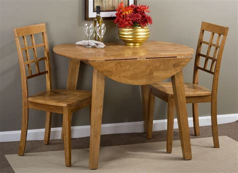 round dining room sets with leaf simplicity honey extendable round drop leaf dining room