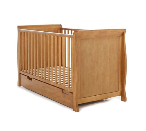 baby cots with drawers uk obaby sleigh cot bed and under drawer country pine