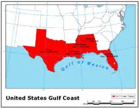 us map of gulf states gulf states images