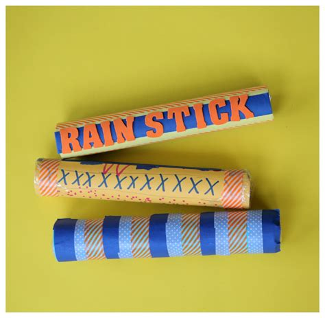 How To Make Sticks With Toilet Paper Rolls - recycled craft make a rainstick 183 kix cereal