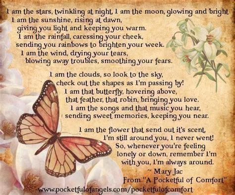 comforting messages for the bereaved the bereavement poem comfort reassurance from a