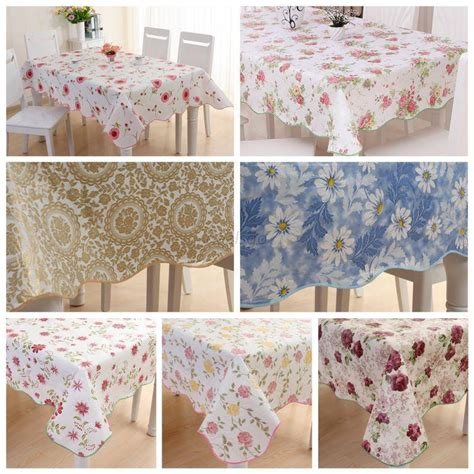 kitchen table cloths waterproof wipe clean pvc vinyl tablecloth dining kitchen