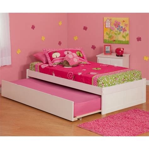 Platform Bed With Trundle Atlantic Furniture Concord Platform Bed With Trundle In White Ar80x2012