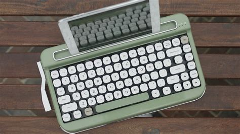 A Vintage Keyboard by Penna A Vintage Typewriter Inspired Bluetooth Keyboard