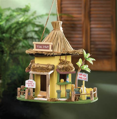 tiki decorations home tiki hut birdhouse wholesale at koehler home decor