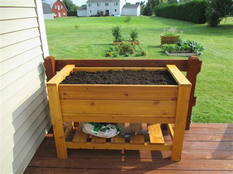 Planter Shelf by Elevated Planter Box With Shelf