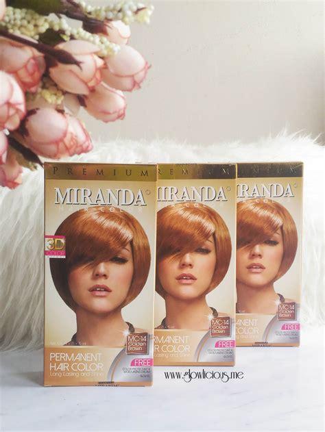 warna rambut miranda cat rambut lagi glowlicious me indonesia beauty