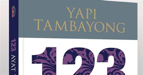 buku yang kubaca 123 ayat tentang seni by yapi tambayong