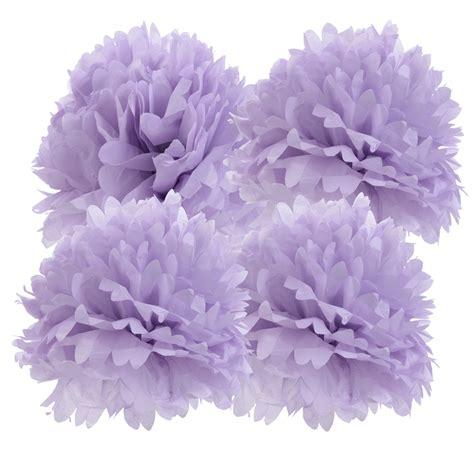 Paper Pom Poms - blowout 16 quot lavender tissue paper pom poms flowers balls