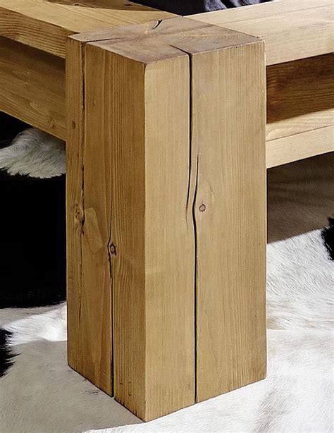 kopfteil antik massivholz balkenbett 140x200 bett aus balken mit kopfteil