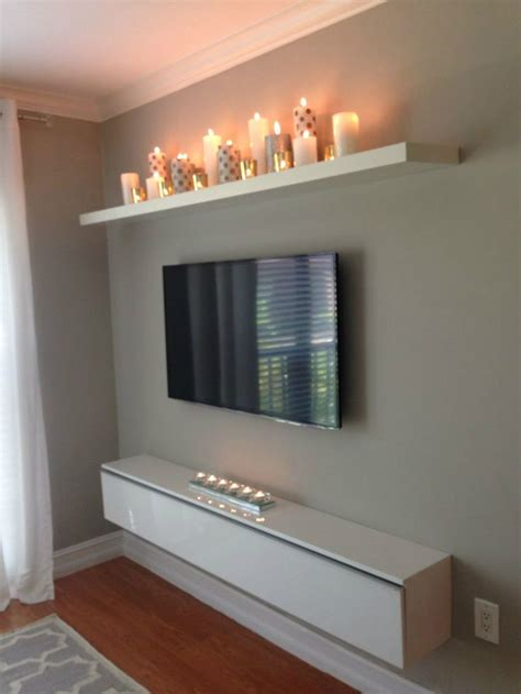 Decorating Ideas For Wall Mounted Tv 25 Best Ideas About Wall Mounted Tv On