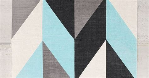 Livingrooms Chevron Flip 5x7 Rug In Turquoise From Urban Outfitters