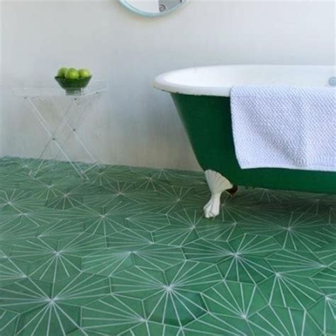 green patterned tiles bathroom flooring ideas decorating ideas interiors red