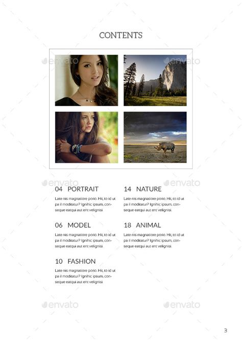 indesign photography portfolio template by raseuki