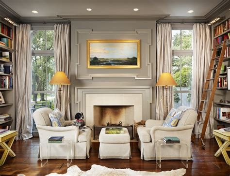 gray walls traditional living room benjamin dolphin dillon kyle architecture