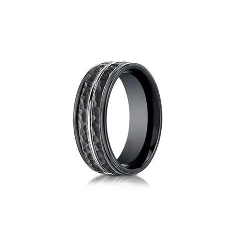 black cobalt hammered mens wedding band desires by mikolay