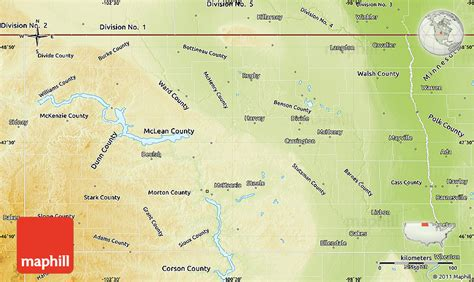 physical map of south dakota physical map of dakota