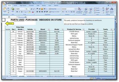 Repair Excel Spreadsheet by Car Maintenance Excel Free Vehicle 28 Images Freeware