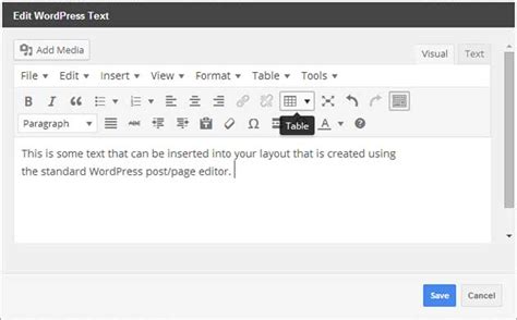 text layout in wordpress motopress content editor page builder plugin review