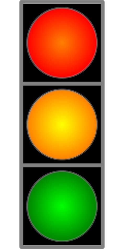 clipart semaforo free vector graphic traffic light yellow green