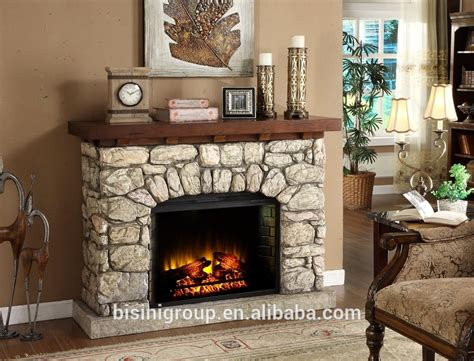 bisini faux stone electric fireplace polystone electric