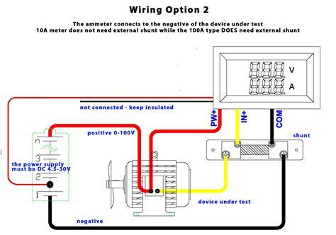 ebay voltmeter ammeter wiring diagram ebay free engine