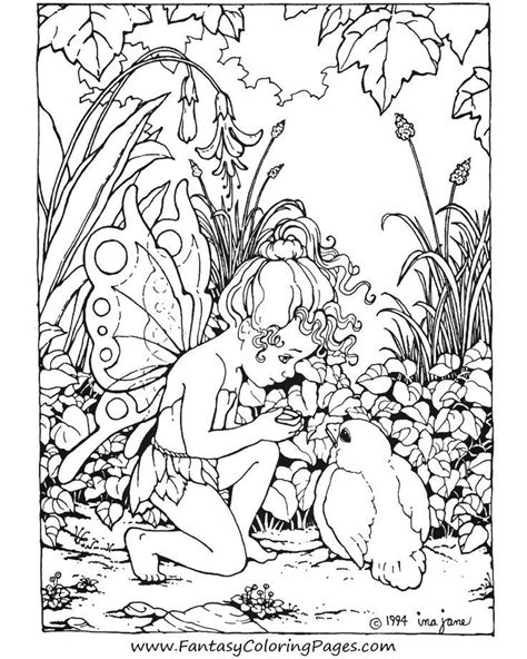 coloring pages for adults fairies coloring pages for adults coloring home