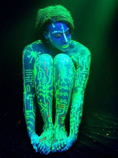 glow in the dark tattoo chicago 618 best images about body painting on pinterest