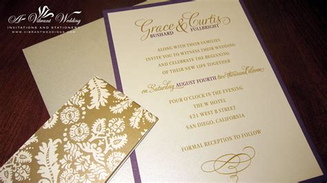 Gold Wedding Invitations by Gold Wedding Invitation A Vibrant Wedding