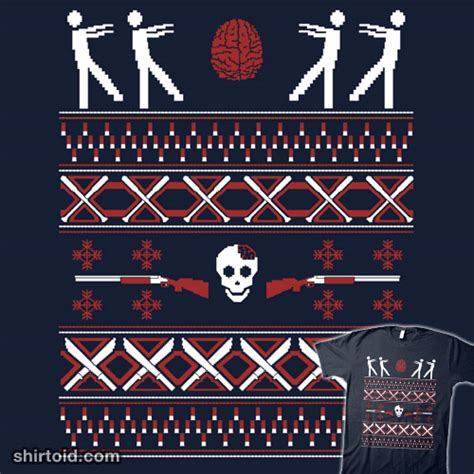 zombie christmas sweater sweater shirtoid