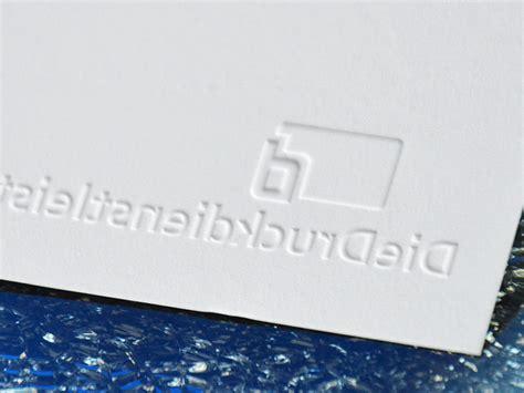Xpress Visitenkarten by Edle Visitenkarte Mit Blindpr 228 Gung Drucken G 252 Nstig Mit