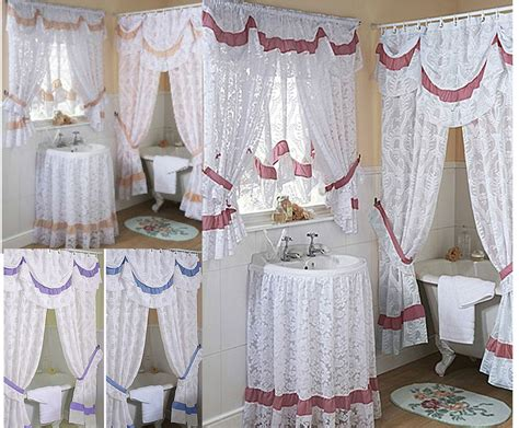 how to make bathroom curtains chantilly lace bathroom shower or window curtains mock