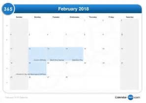 Kalender Februari 2018 February 2018 Calendar