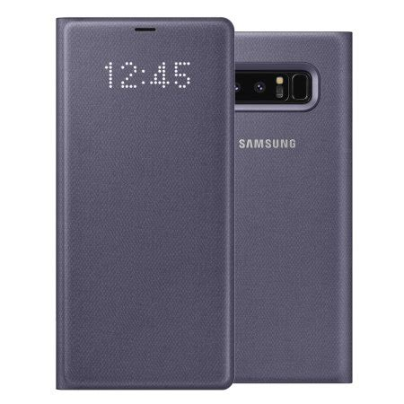 Samsung Note 8 Orchid Grey official samsung galaxy note 8 led view cover