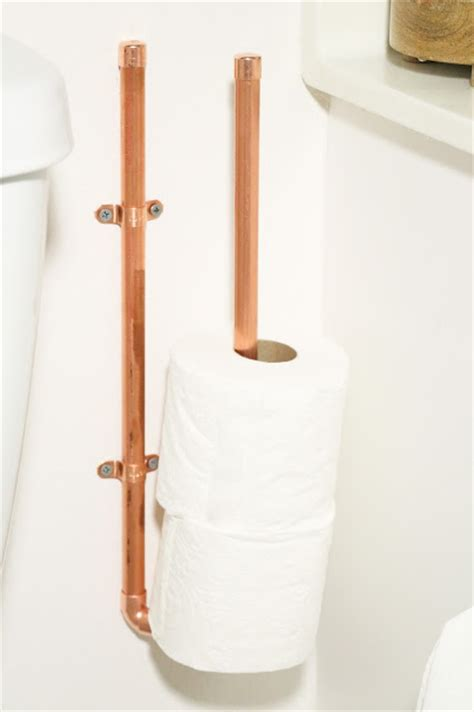 diy toilet paper holder stylish diy copper toilet paper holders shelterness