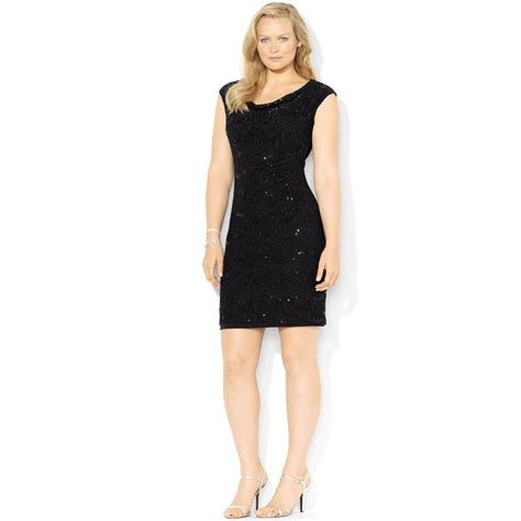 Lawren Dress by ralph plus size sleeveless sequined lace