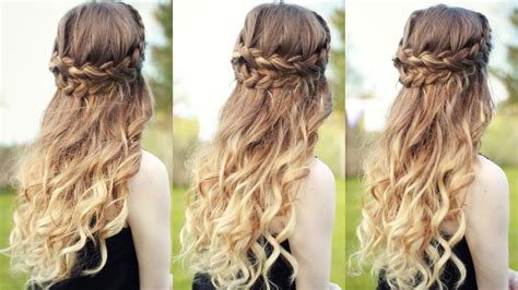 Hairstyles With Curls by Beautiful Half Half Up Braided Hairstyle With Curls