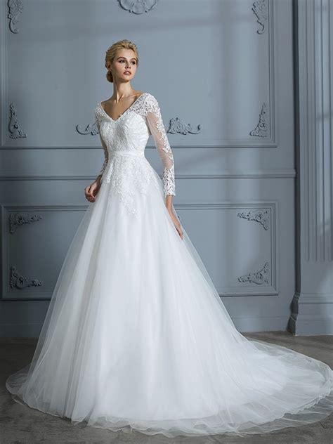 Robe De Mariée Marquise Manche Longue - robe de bal col en v manches longues tra 238 ne moyenne