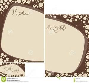 il menu del modello ha impostato per la caffetteria