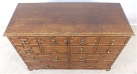 large antique jacobean style oak chest of drawers dresser
