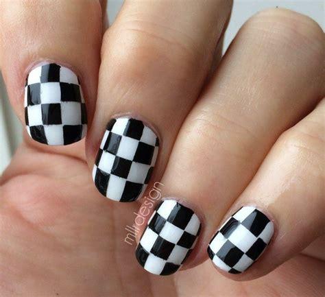 imagenes uñas decoradas en blanco y negro 15 dise 241 os espectaculares de u 241 as a blanco y negro para