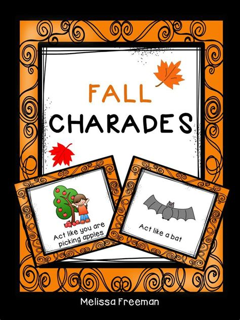 halloween themed charades students will enjoy these 10 free fall themed charades