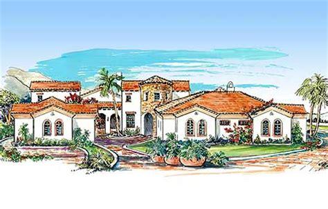 Mediterranean Villa House Plans by Mediterranean Villa With Two Courtyards 16315md