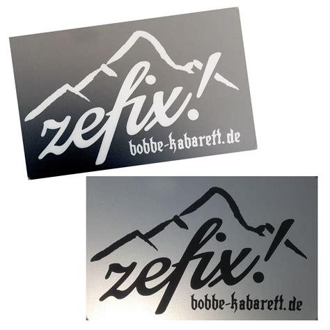 Autoaufkleber Schwarz by Autoaufkleber Zefix Schwarz Und Wei 223 Bobbe Kabarett