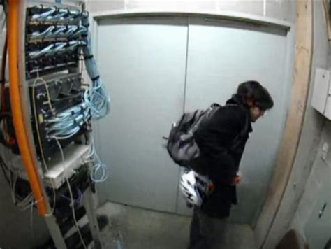 Security Closet by Surveillance Shows Aaron Swartz Hacking Mit S