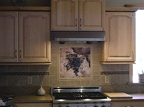 tile backsplash ideas fruit tiles tuscan grapes i